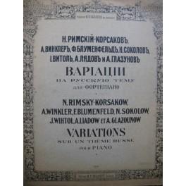 RIMSKY-KORSAKOW N. Variations sur un thème russe Piano 1900