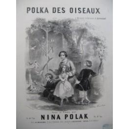 POLAK Nina Polka des Oiseaux Piano ca1850