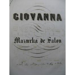 POLCK Karl Giovanna Piano XIXe siècle