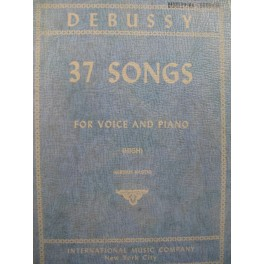 DEBUSSY Claude 37 Songs Chant Piano 1955