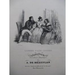 DE BEAUPLAN Amédée Laissez-vous Adorer Chant Piano ca1830