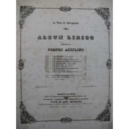 AZZOLINO Pompeo Album Lirico 12 Pièces Chant Piano 1853