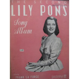 Lily Pons Song Album 16 pièces Chant Piano 1948