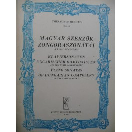 Piano Sonatas of Hungarian Composers or the XVIIIe century 9 pièces Piano