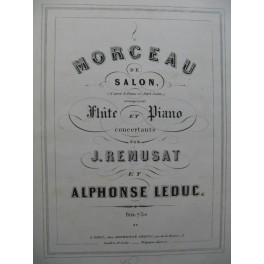 REMUSAT Jean & LEDUC Alphonse Morceau de Salon Flûte Piano 1857