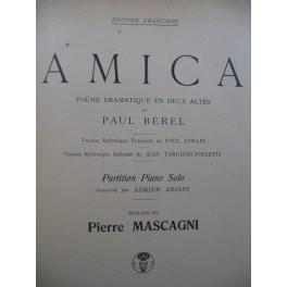 MASCAGNI Pietro Amica Opera Piano solo 1905