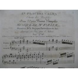 PAËR Ferdinando In Placida Calma Chant Piano ou Harpe ca1810