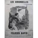 DAVID Félicien Les Hirondelles Nanteuil Chant Piano XIXe