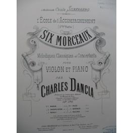 DANCLA Charles Andante Prière Violon Piano 1886