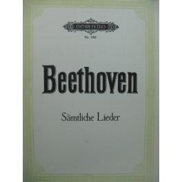 BEETHOVEN Sämtliche Lieder 67 Pièces Chant Piano