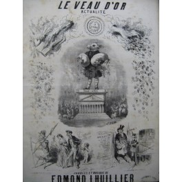 LHUILLIER Edmond Le Veau d'Or Chant Piano ca1850