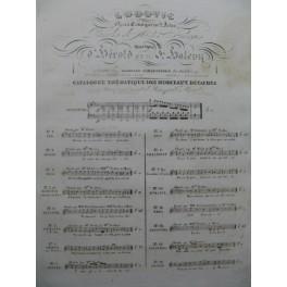 HALÉVY F. Ludovic No 9 Chant Piano ca1834