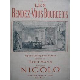 ISOUARD Nicolo Les Rendez-vous Bourgeois Opéra Chant Piano ca1900