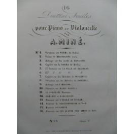 MINÉ A. Souvenir de Nabucodonosor Verdi Piano Violoncelle ca1840