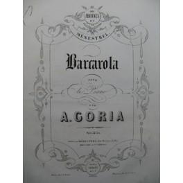CORIA A. Barcarola Piano XIXe siècle