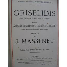 MASSENET Jules Grisélidis Piano Chant 1901