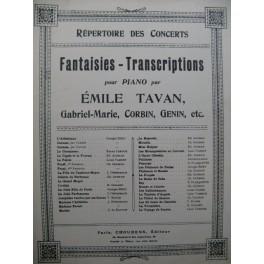 TAVAN Emile Myss Helyett Piano 1893