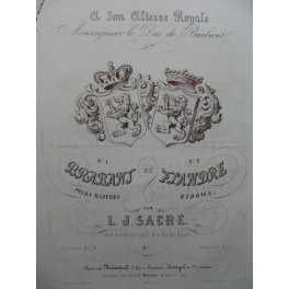 SACRÉ L. J. Brabant Polka Mazurka Piano ca1855