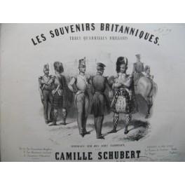 SCHUBERT Camille Les Souvenirs Britanniques Les Chasseurs Ecossais Piano ca1850