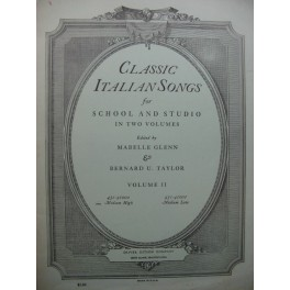 Classic Italian Songs 15 Pièces Chant Piano