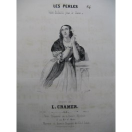CRAMER L. Les Perles Piano ca1840