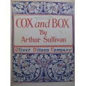 SULLIVAN Arthur S. Cox and Box Opéra Chant Piano