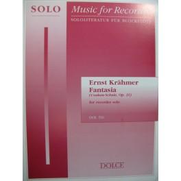 KRÄHMER Ernst Fantasia Recorder Flute à bec solo