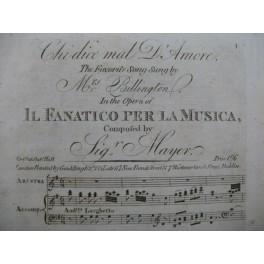 MAYR Johann Simon Che dice mal D'Amore Chant Piano XIXe