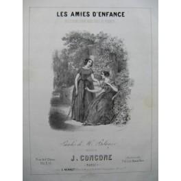 CONCONE Joseph Les Amies d'Enfance Chant Piano ca1845