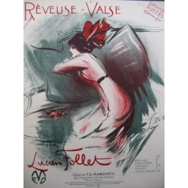 FOLLET Lucien Rêveuse Valse Chant Piano 1912
