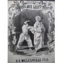 MÉLESVILLE H. D. Les Deux Gilles Opérette Chant Piano 1855