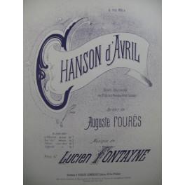 FONTAYNE Lucien Chanson d'Avril Chant Piano