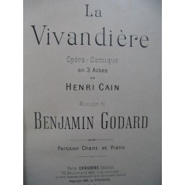 GODARD Benjamin La Vivandière Opera Piano Chant 1895