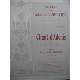 MERCIER Adalbert Chant d'Adonis Chant Piano 1903