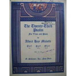 MALOTTE Albert Hay The Twenty-Third Psalm Chant Piano 1937