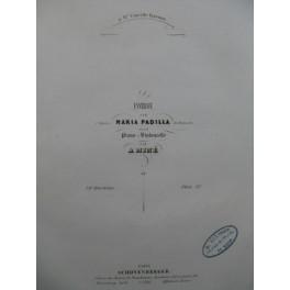 MINÉ A. Fantaisie sur Maria Padilla de Donizetti Piano Violoncelle ca1840