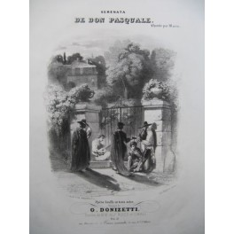 DONIZETTI G. Serenata de Don Pasquale Nanteuil Chant Piano ca1850