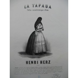 HERZ Henri La Tapada Polka du Pérou Piano XIXe