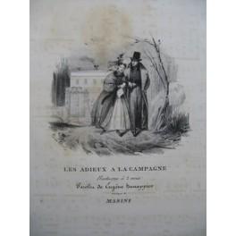 MASINI F. Les Adieux à la Campagne Chant Piano ca1830