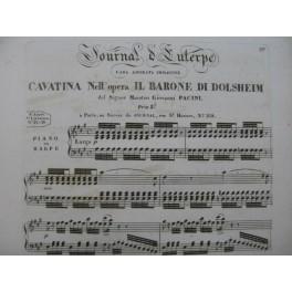PACINI Giovanni Cavatina Il Barone di Dolsheim Chant Piano ou Harpe ca1830
