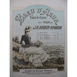 HECKER-REARDON J. H. Bleu d'Azur Valse Piano 4 mains