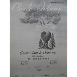 DEBUSSY Claude Calmes dans le Demi-jour Chant Piano 1944