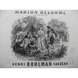 BOHLMAN SAUZEAU Henri Marion Delorme Piano Flute Violon Cornet Basse ca1850