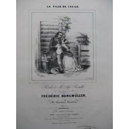 BURGMULLER Frédéric La Fille de L'Exilé Chant Piano 1840