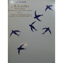 LOEILLET J. B. Sonates Vol 1 Flûte à bec alto Basse continue