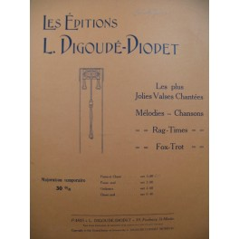 DE CRISTOFARO Albert Aimer Chant Piano 1904