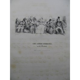 PLANTADE Charles Une Course d'Omnibus Chant Piano ca1840