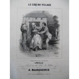 MARQUERIE A. Le Coq du Village Chant Piano ca1830