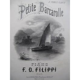 FILIPPI F. D. Petite Barcarolle Piano 1874