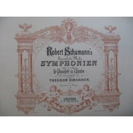 SCHUMANN Robert Symphonien Piano 4 mains XIXe